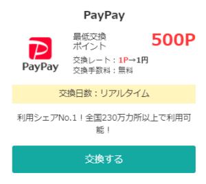 モッピーポイント交換PayPay
